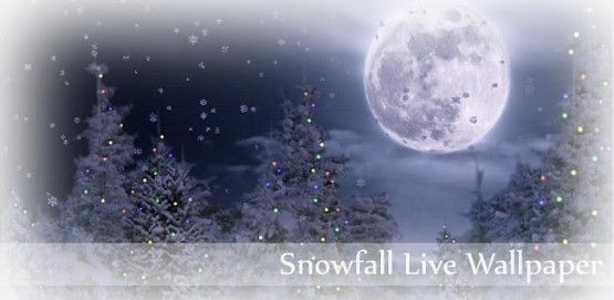 Snowfall Live Wallpaper Apk Wintertime On Your Home Screen