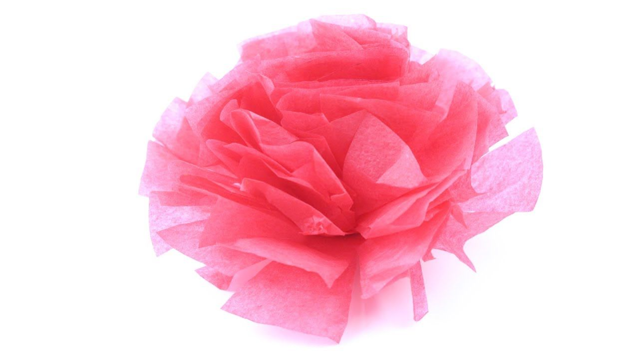 Tissue Paper Flower Easy Tutorial How To Make Paper Flower Step By
