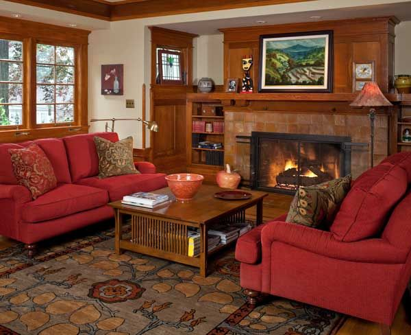 A Refined Bungalow In Portland Craftsman Living Rooms Living Room Furniture Layout Furniture Layout