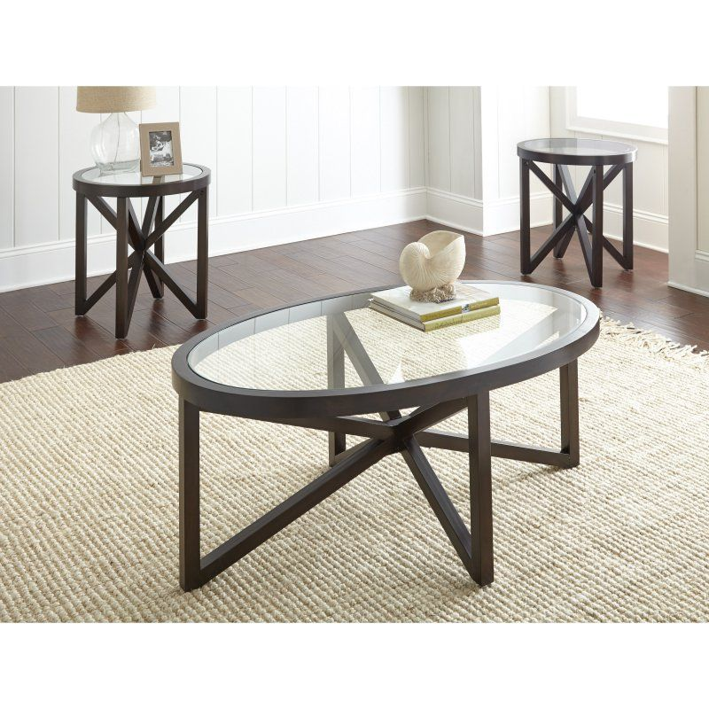 Best Steve Silver Starboard 3 Piece Occasional Table Set 400 x 300