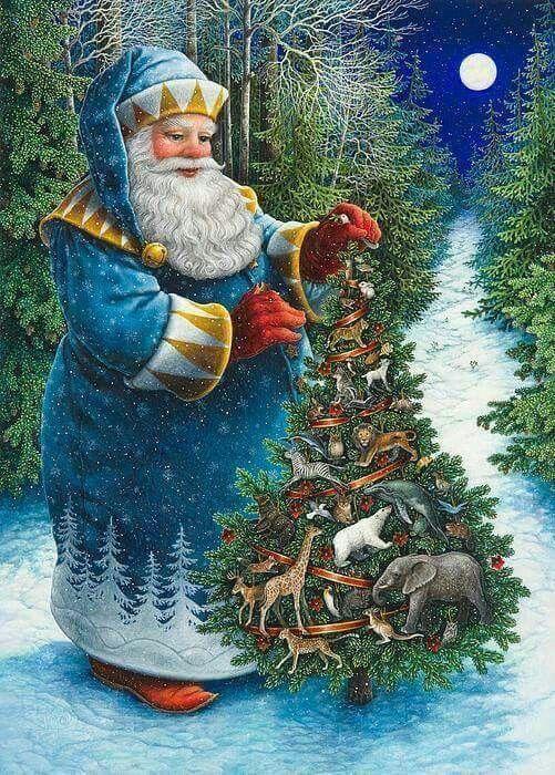 Old World Santa Claus ♡ #trucsdenoël