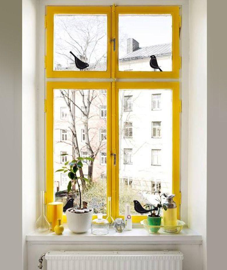 pjaros en la ventana vinilo adhesivo para vidrio decoracin de ventanas cop