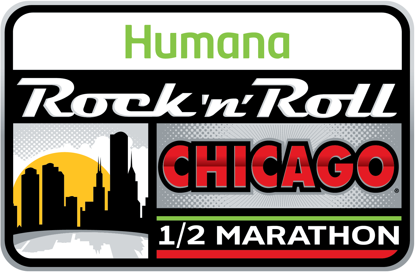 Rock 'n' Roll Chicago Half Marathon The Ford Island Bridge Run 10K is a Running race in Chicago, Illinois consisting of a 10K.