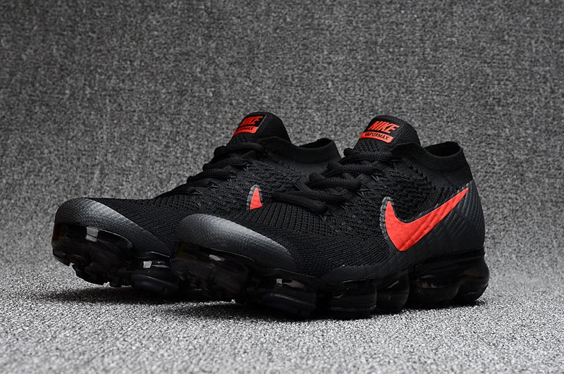 Nike Air VaporMax Flyknit Black Red