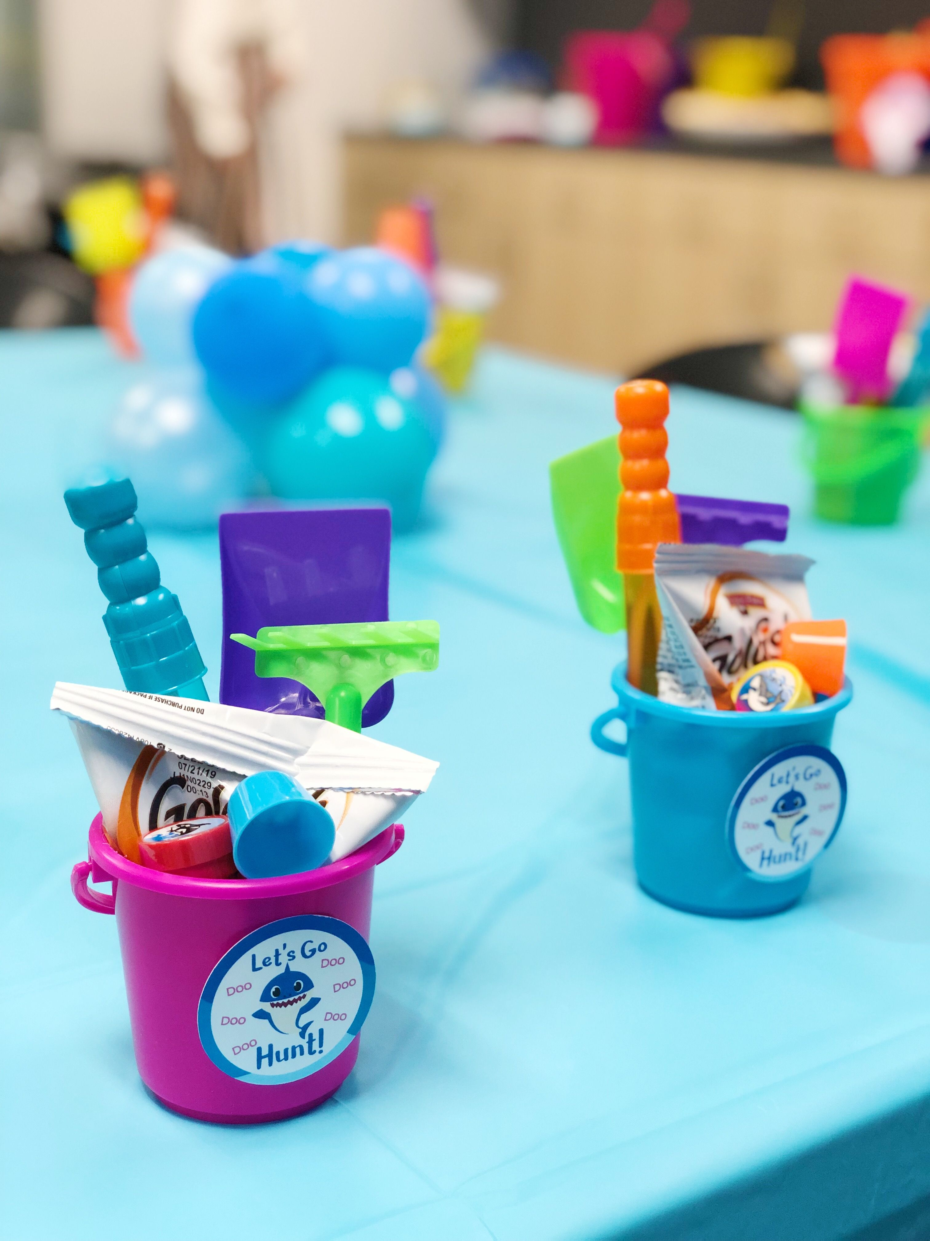 Baby Shark Birthday Party Favors