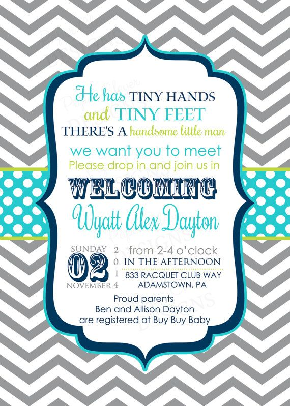 Sip and see invitations for boys navy and grey chevron stripe meet and greet shower invitations boys sip by papercleverparty m4hsunfo