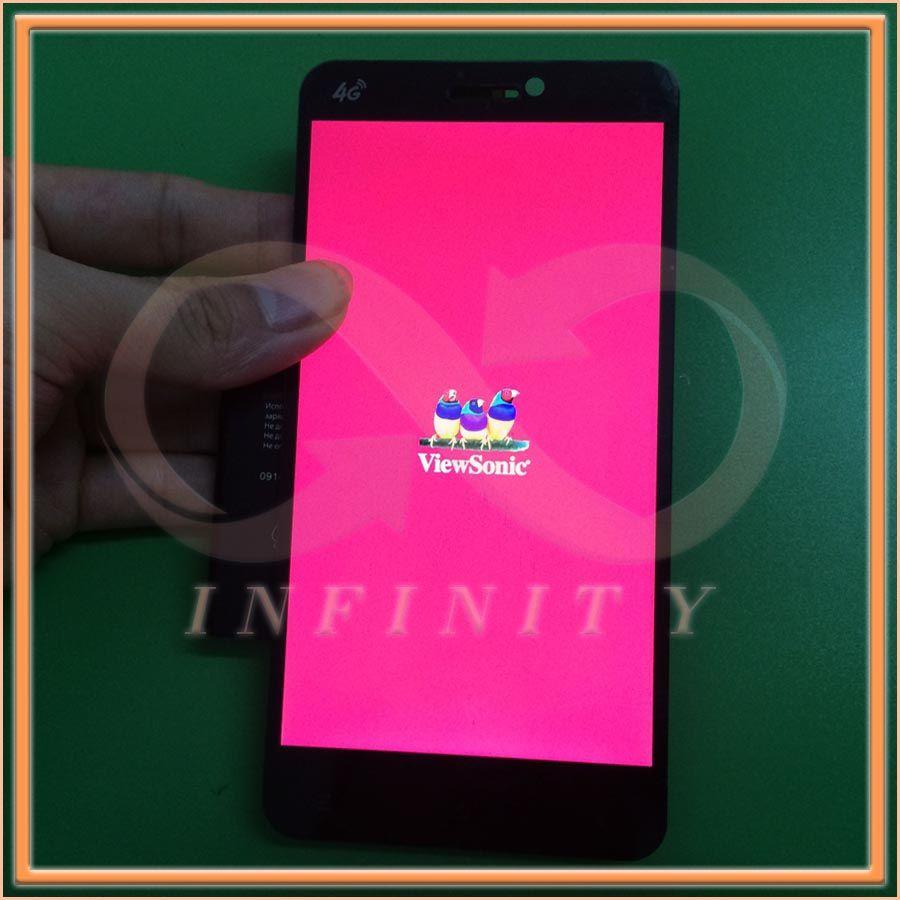 """재고 100% 새로운 원래 5.5 """"뷰소닉 V500 V500-3 전체 LCD 스크린 디스플레이 + 터치 패널 프레임 + 추적 번호"""