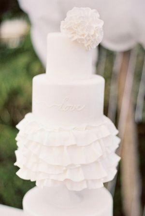 love this ruffled cake!
