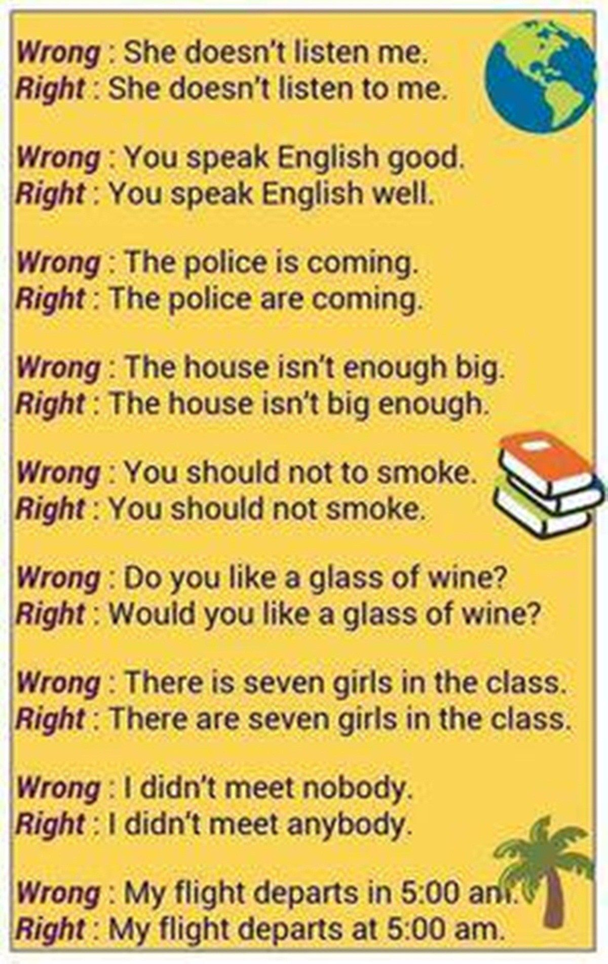 50 Most Common Mistakes Of Esl Students Eslbuzz Learning English English Language Teaching English Learning Spoken Learn English Vocabulary