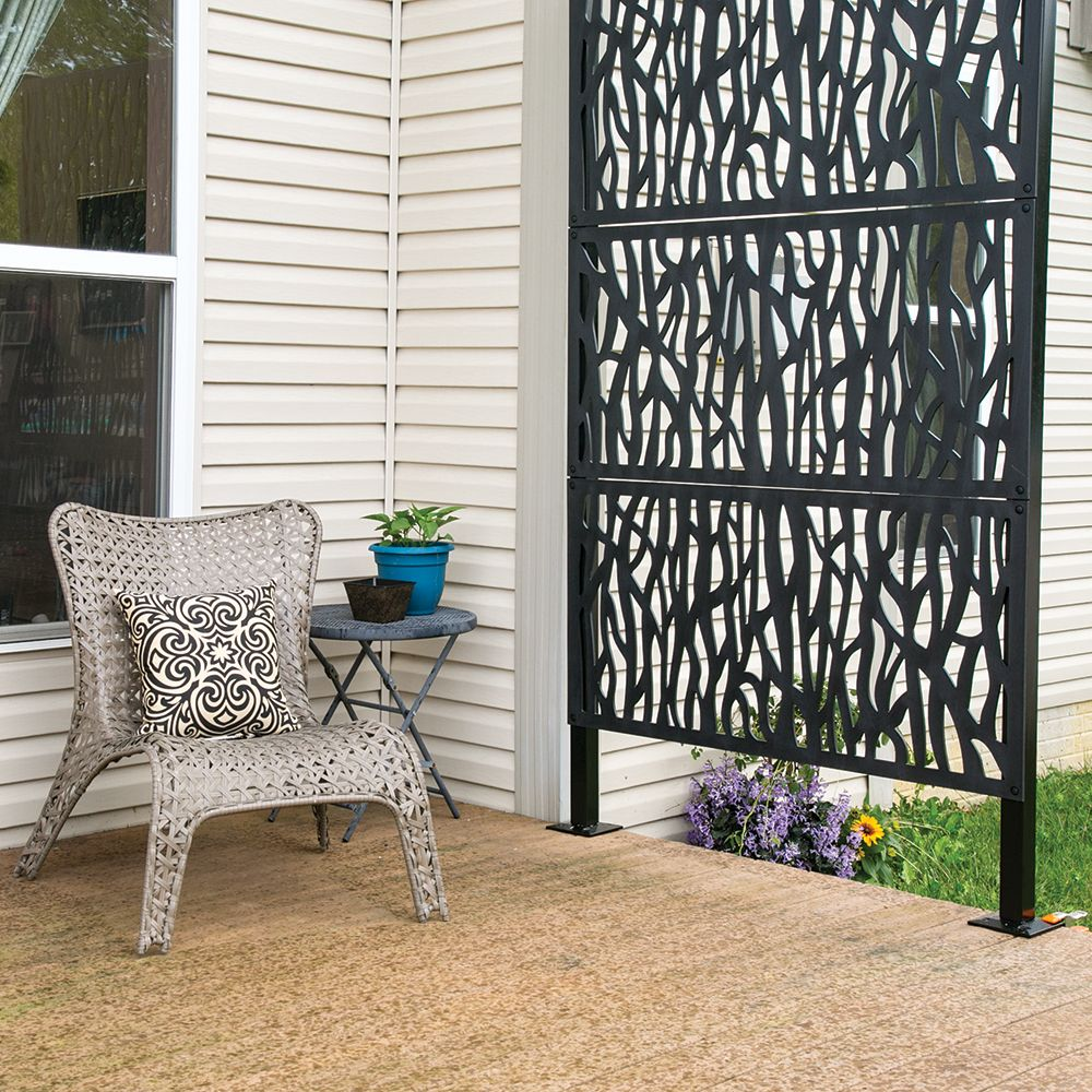 2 X 4 Sprig Vinyl Decorative Screen Panel Black Decorative