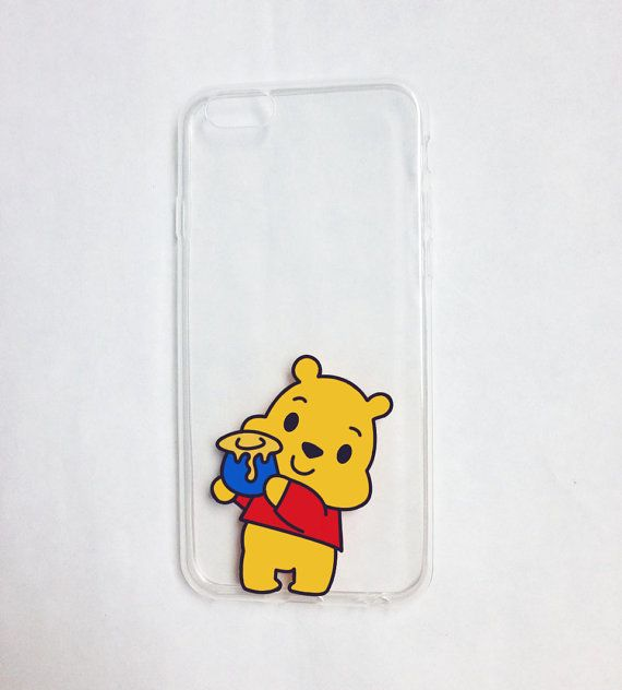 fe867653355 Hand painted Winnie the Pooh phone case ♥ All cases will be made to order ♥  This design is individually hand-painted using special permanent