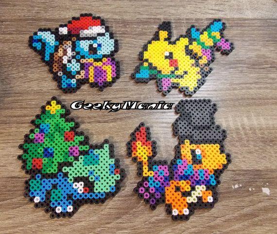 Pokemon- Christmas Theme Perler Beads Sprite | perler