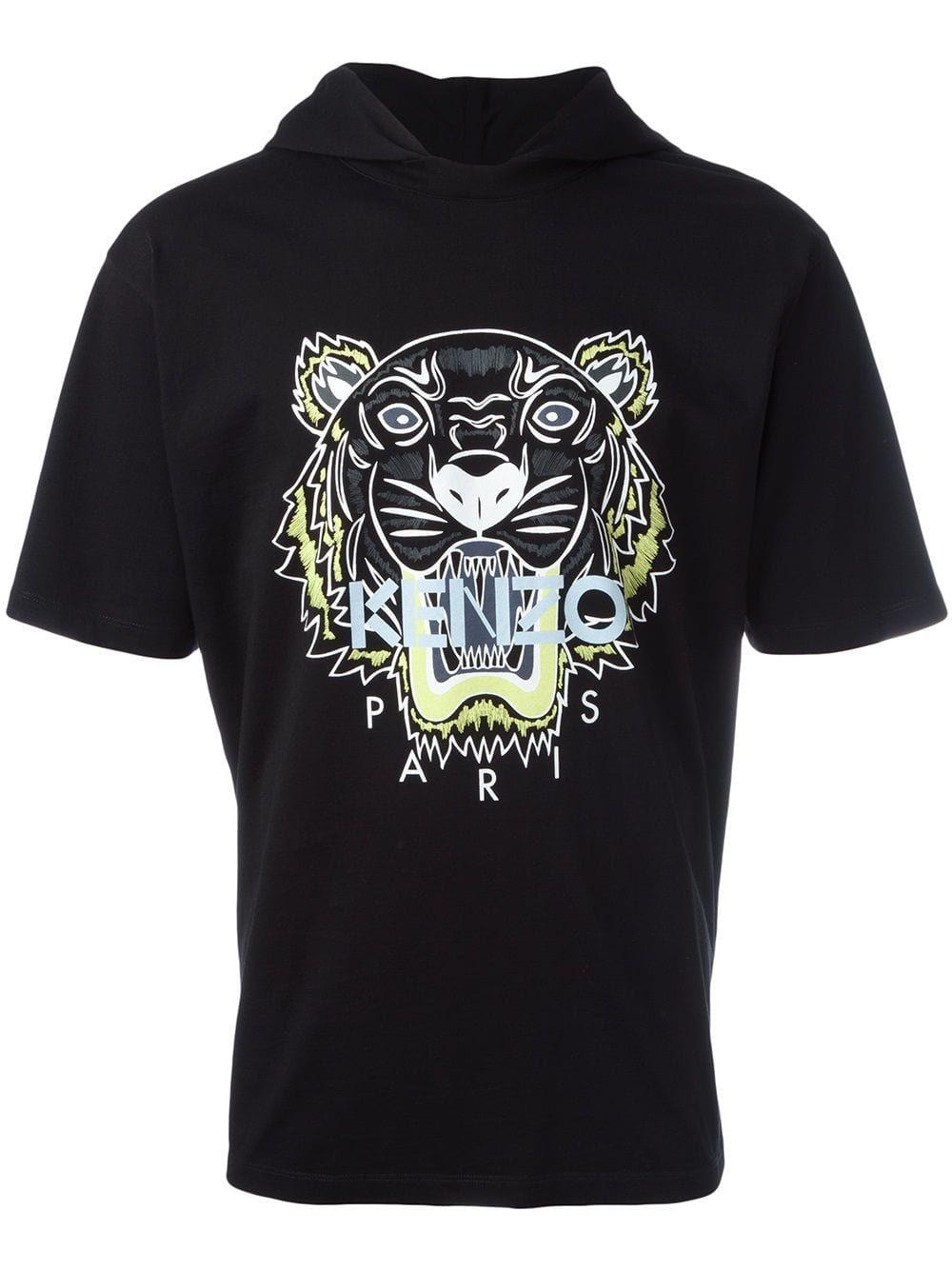 c48f54fe KENZO KENZO TIGER HOODED T-SHIRT - BLACK. #kenzo #cloth | Kenzo ...