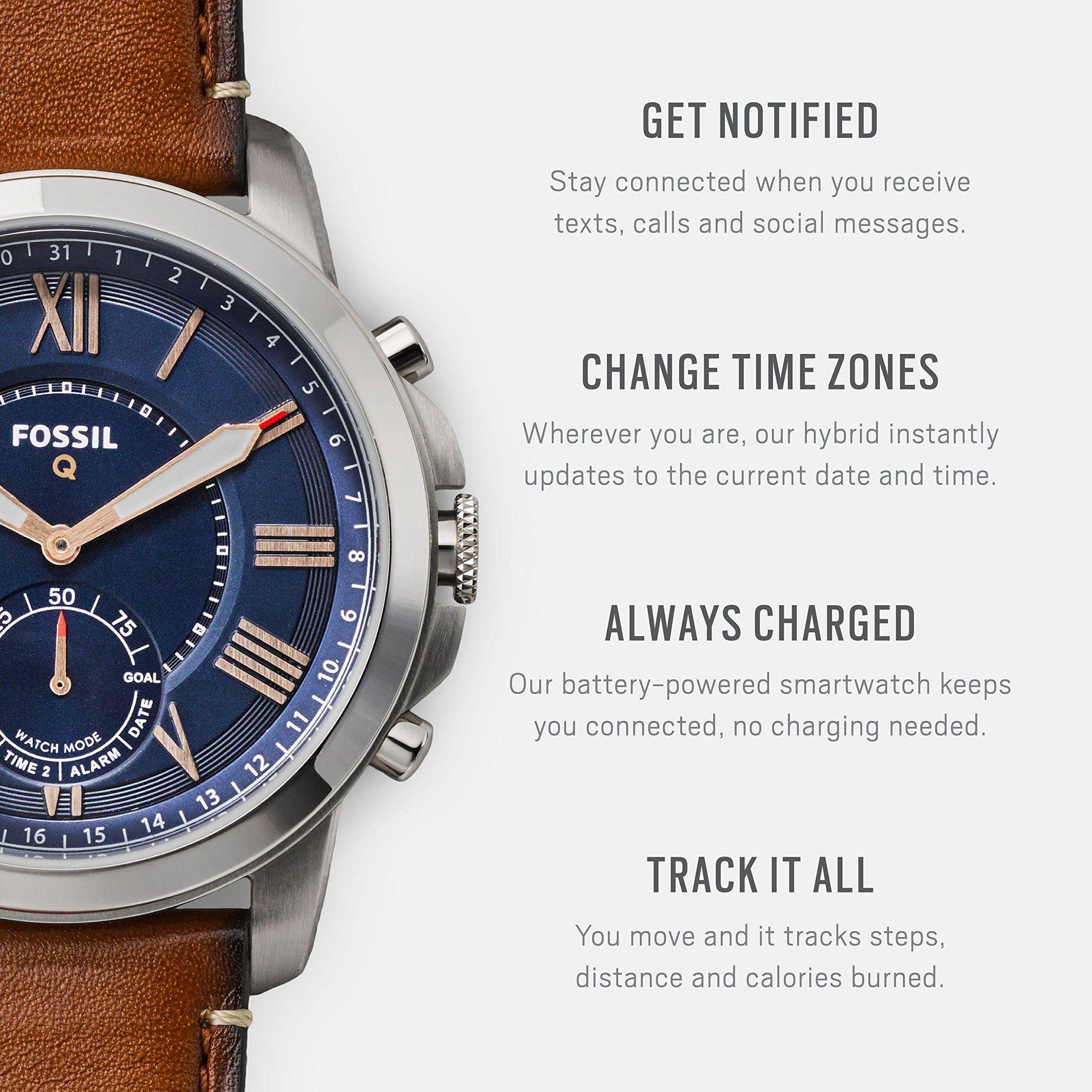 Fossil Ftw1122 Q Grant Gen 2 Hybrid Smartwatch Light Brown Leather