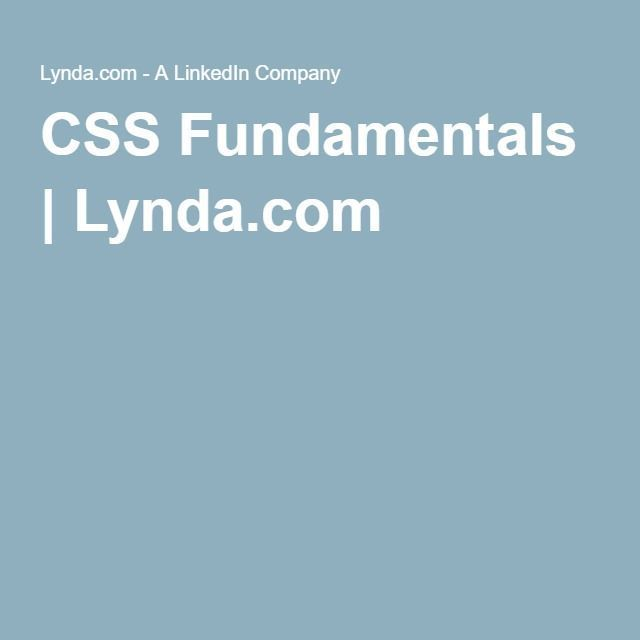 Buy Lynda.com - CSS Fundamentals Cheap