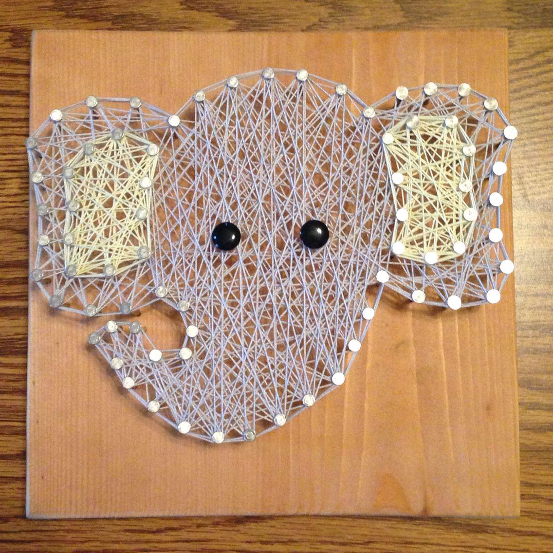 Elephant string art - nursery decor