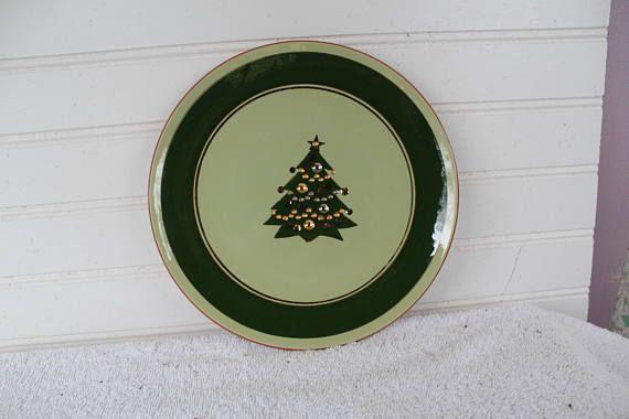 Christmas tree, Stangl 8 1/4 plate, Jewelled Tree, Stangl Pottery