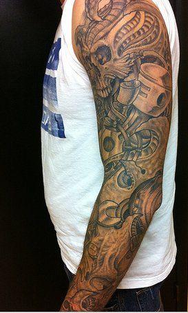 Biomechanical Tattoos Skull Biomechanical Tattoo Tattoos For Guys Tattoos