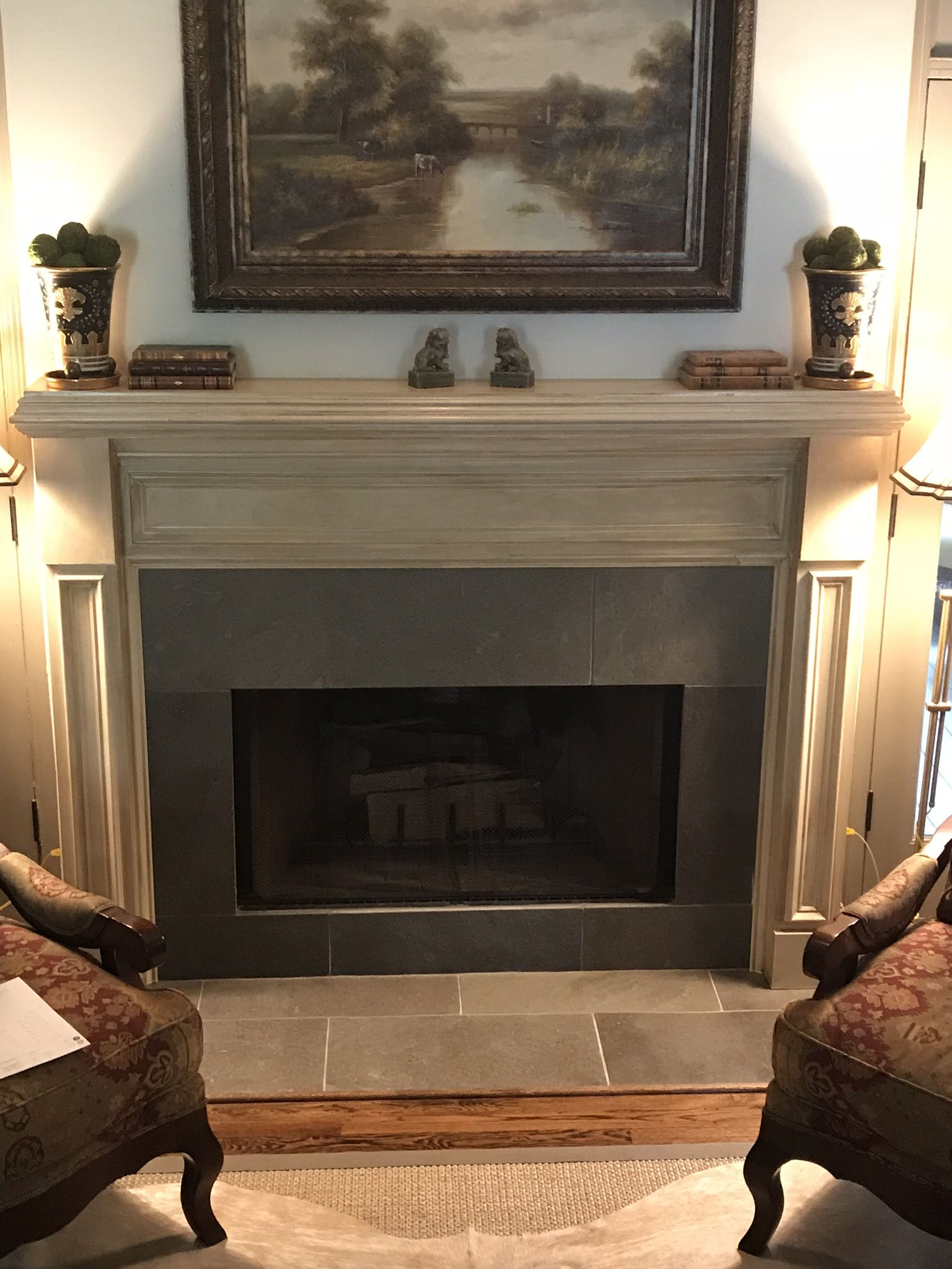 Traditional Fireplace Design With Classic Wooden Surround And Tile