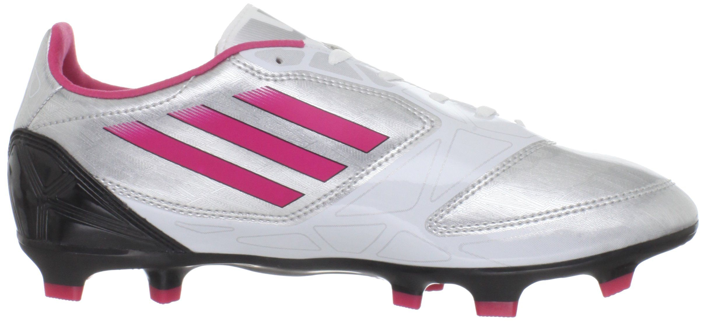 4a046ed0416a adidas Womens F10 TRX FG Soccer ShoeMetallic Silver Bright Pink Black5 M US  -- Check out this great product. (This is an affiliate link)   ...