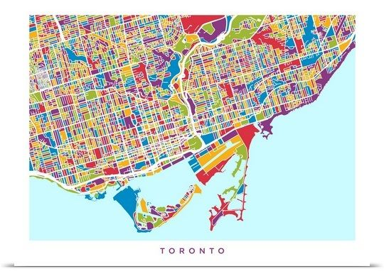 Toronto street map toronto and street toronto street map gumiabroncs Image collections