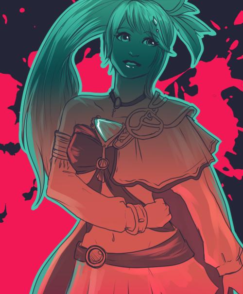 Hyrule Warriors Lana Fanart Hyrule Warriors Dragon Knight Sorceress