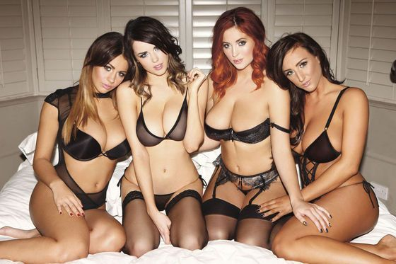 Holly Peers, Danielle Sharp, Lucy Collett and Stacey Poole