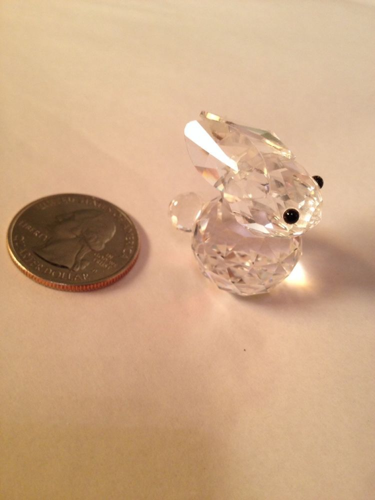 162dbe5e0 Swarovski Crystal Rabbit Retired Small Austrian Crystal Rabbit 80s 90s Buy  it Now! $51.99 FREE shipping