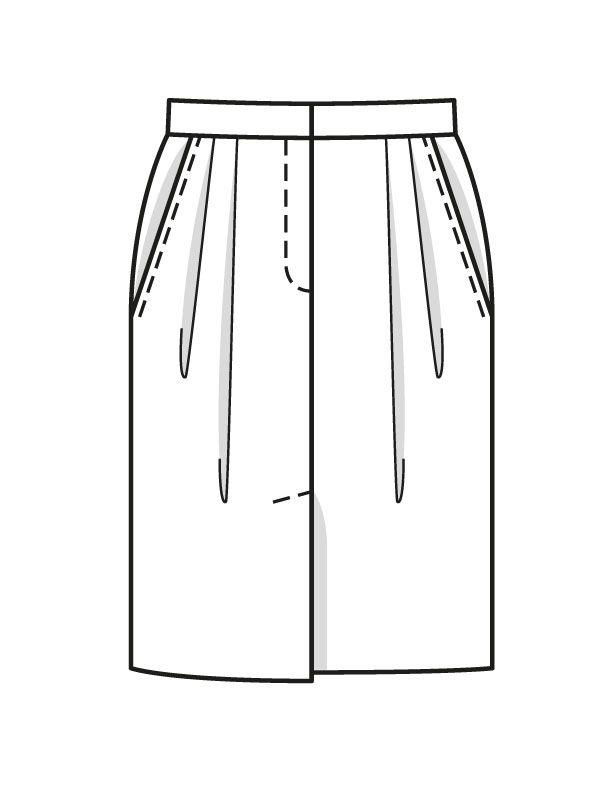 Юбка-карандаш со складками   Юбка, Выкройки и Шитье юбки
