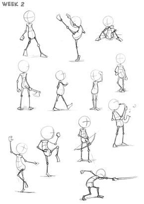 How To Draw Action Poses Step By Step Drawing Guide By