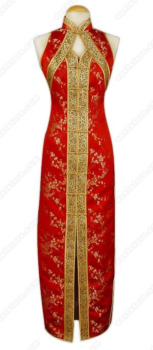 Asian Formal Dress - Chic Brocade Cheongsam : EastStore.com