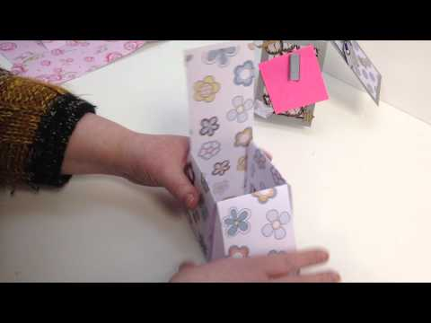 16 How to make a Popup Box Card without measuring by Nikky Hall Polkadoodles