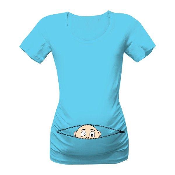 0dcb55aff5a Těhu tričko s vykukujícím miminkem. Těhotenské tričko jak vykukuje miminko.  Jiná barva trika samozřejmě