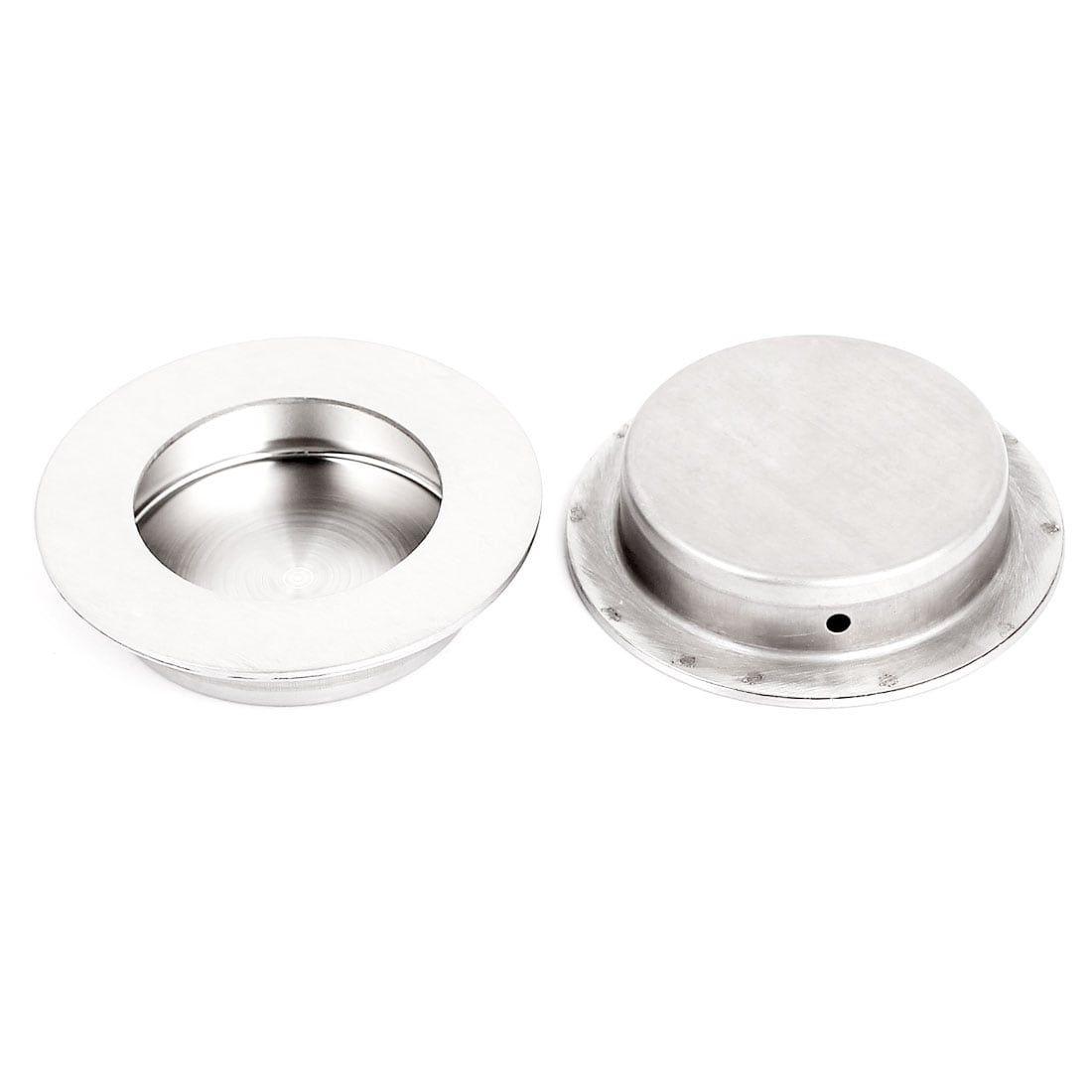 Sliding Door Drawer Stainless Steel 65mm Round Recessed Flush Pull Handle 2pcs Sliding Doors Sliding Door Handles Stainless Steel Material