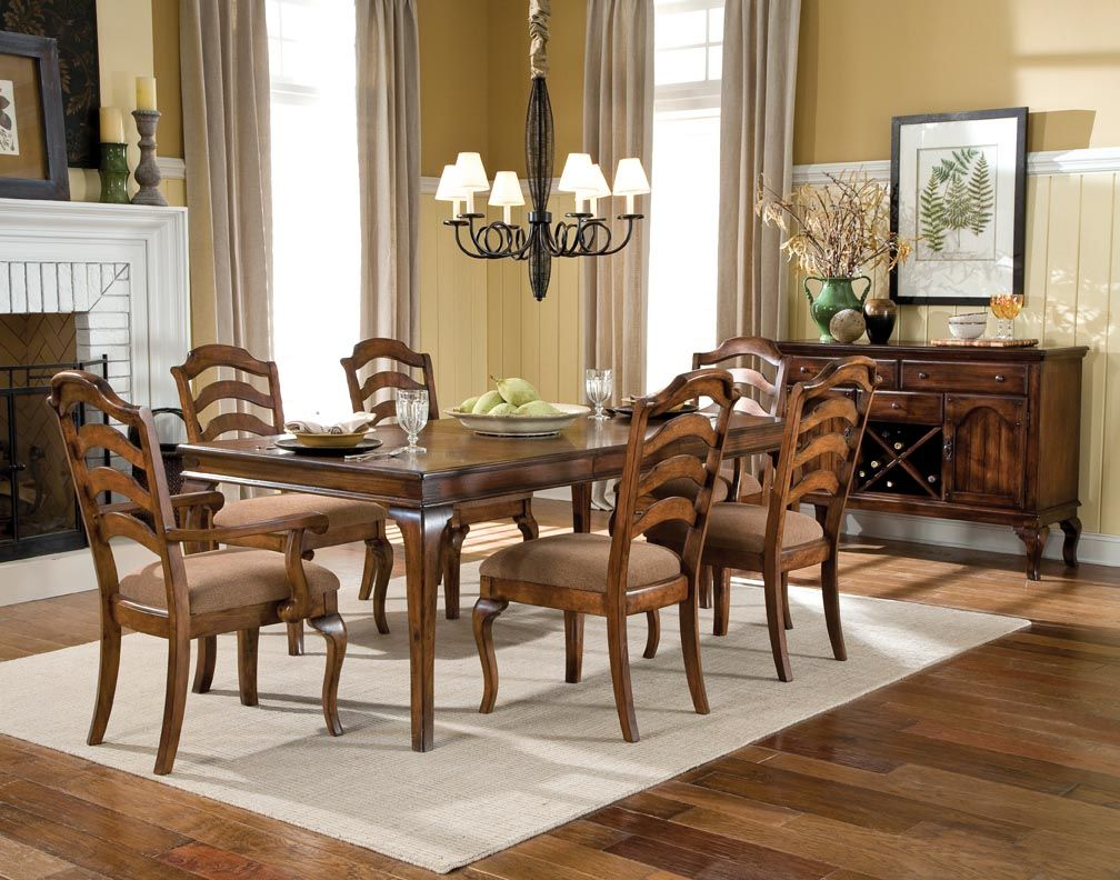 Superior Crossroad Rustic Brown Dining Room Set Part 16