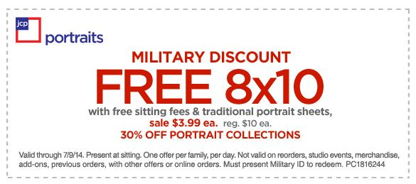 jcpenney portrait coupons military