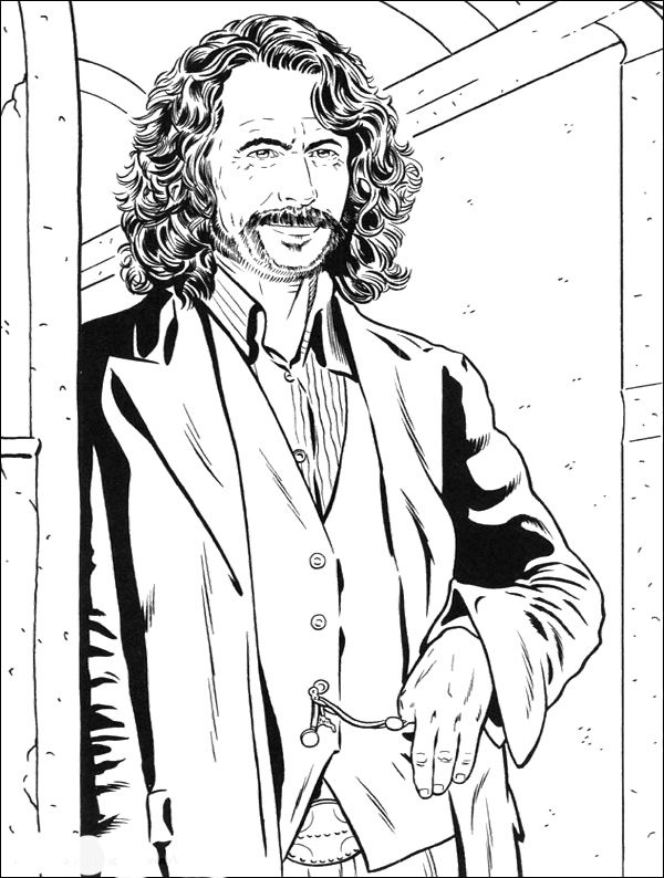 Sirius Black Harry Potter Sirius Black Coloring Pages