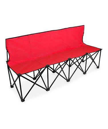 red 6 folding back bench zulily zulilyfinds camping pinterest