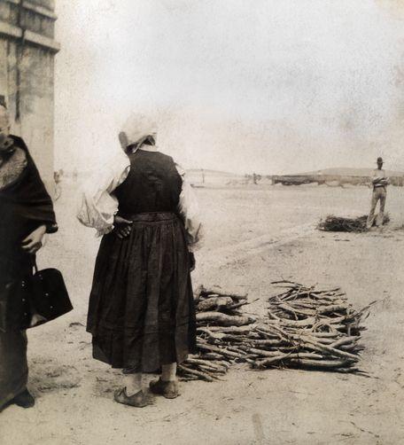 Fishermen and women on the Adriatic coast. Croatia, 1900s