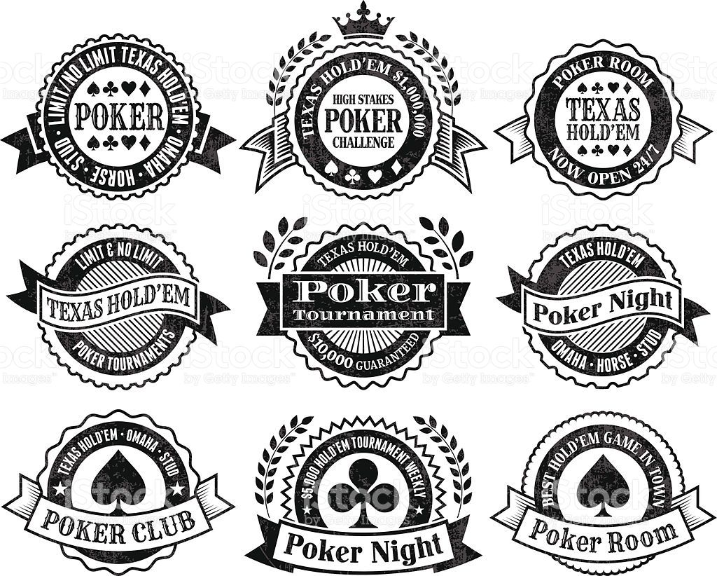 Texas Hold Em Poker Chips cards and vector graphics black