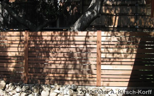 Removable Privacy Fence horizontal redwood fence with removable access panel - pasadena