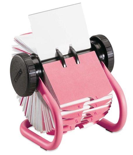 Love Luck Kisses Cake The Blog Desktop Details Girly Desk Accessories Pink Office Supplies Rolodex