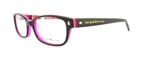 0d1a48cd1f Kate Spade Lucyann Eyeglasses-0X78 Black Pink Striped -53mm