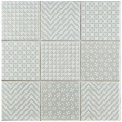 Merola Tile Geobright Grey 11-5/8 in. x 11-5/8 in. x 6 mm Porcelain Mosaic Tile-FTC4GEGR - The Home Depot