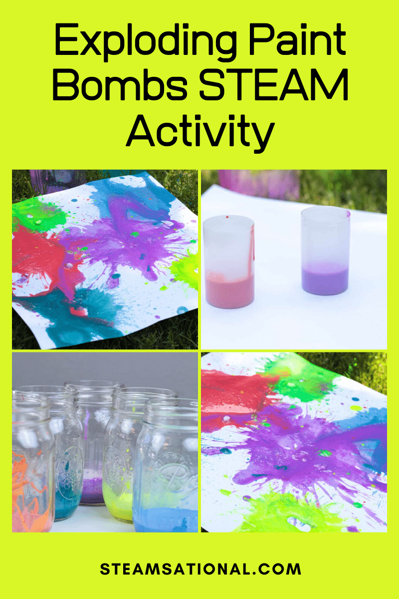 How To Make Exploding Paint Rockets With Film Canisters Summer Stem Activities Stem Activities Kids Learning Activities