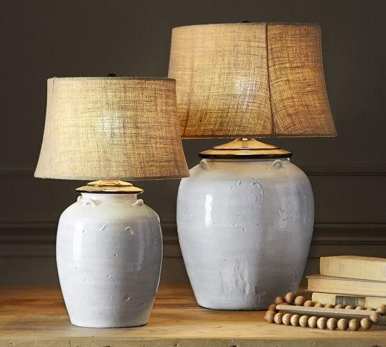 Courtney Ceramic Table Lamp Base Ivory Used In Living Dining Room