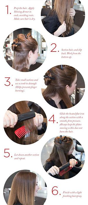 Straight Hair Hacks Tips Tricks Flat Iron Tutorial