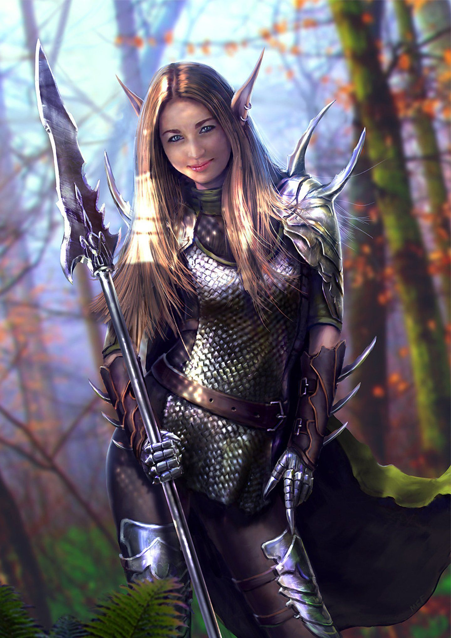 Fantasy Armor Elf Girl Warrior Wallpaper 1440x2036 746128 Female Elf Warrior Girl Elf Warrior