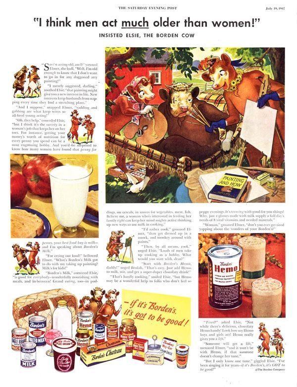 pin by j e hart on elsie the world s favorite cow pinterest retro advertising vintage food and vintage ads