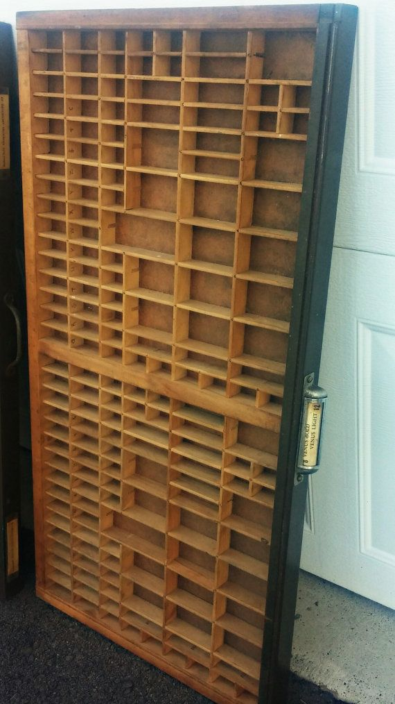 Vintage letterpress drawer, printers tray, industrial drawer  Vintage printers drawer, industrial decorative element to any room at home or